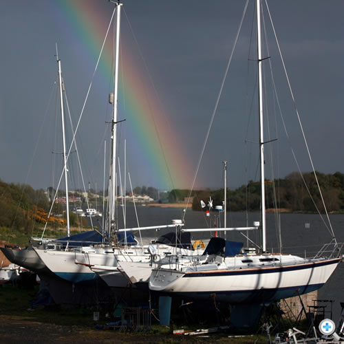 Rainbow view upriver